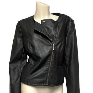 The Limited faux leather moto jacket asymmetrical zip